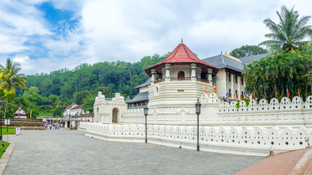 relic: KANDY, SRI LANKA - NOVEMBER 28, 2016: Temple of Sacred Relic Tooth is the main landmark of the city, on November 28 in Kandy.