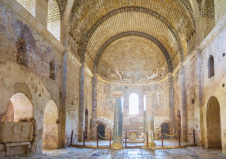 DEMRE, TURKEY - MAY 7, 2017: The main nave of medieval St Nicholas Church after restoration, on May 7, in Demre.