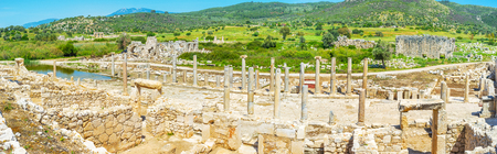 Agora in Patara was the heart of the city with major trade and management centres, Turkey Stock Photo