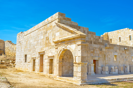 The restored bouleuterion - the lycian parliament building, the meetplace of elected representatives of the city, Patara, Turkey