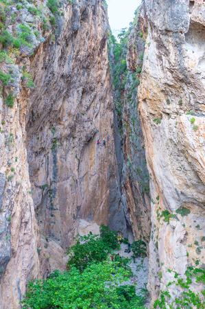 Kaputas 협곡은 터키 리비에라, 터키에서 등산객 중에서 가장 사랑받는 곳입니다.