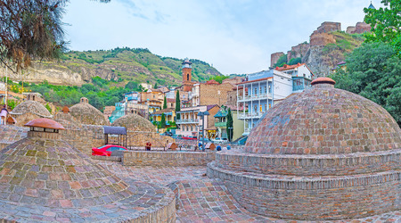 The balneological resort, located in historic center of old Tbilisi - Abanotubani district, here locate the famous Sulphur baths, open for the visitors, Georgia.