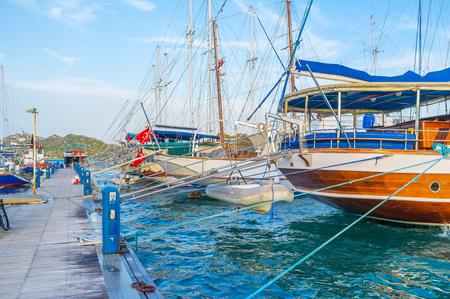 The best way to discover turkish coastline is to take a trip along the coast on one of the pleasure boats, Kekova, Turkey