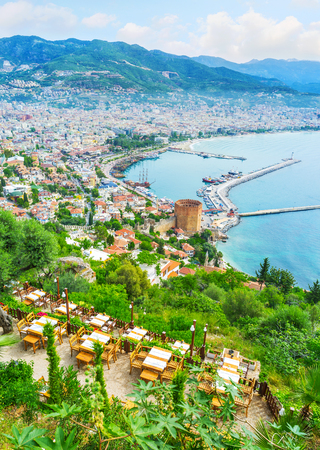 The picturesque  landscape and comfortable climate of Alanya make it popular resort among the tourists, Turkey.