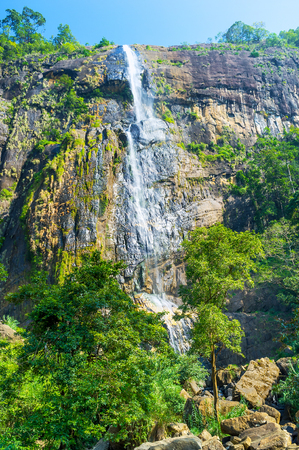 Sri Lanka boasts beautiful waterfalls, such as Diyaluma Falls, that is the second highest one in the island,  Koslanda, Sri Lanka
