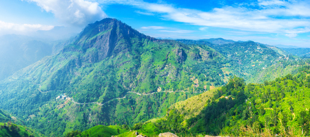 Ella resort is the popular ecotourism destination, people arrive here to visit famous mountain peaks and enjoy local nature, Sri Lanka.