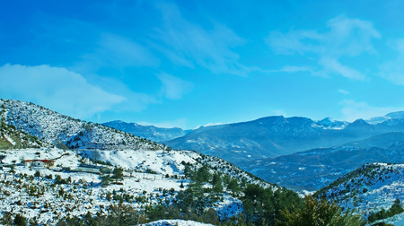 Winter season is the perfect time to relax in Pindus mountains, enjoy the landscape, nature and sport activity, Trikala, Greece.