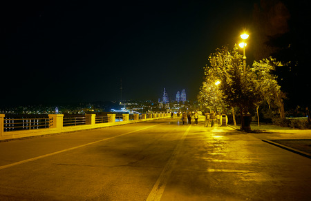 Baku Boulevard is the most cozy place in the evening to relax and walk listening to the sound of the surf, Azerbaijan