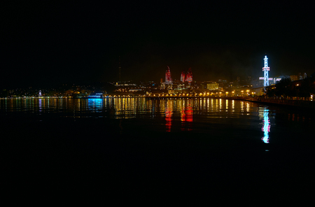 Baku is one of the most beautiful cities in Caucasus region due to scenic location, monumental architecture and its attractive night illumination, Azerbaijan