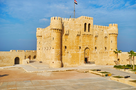 The medieval citadel of Qaitbay is the perfect place to discover history of defensive architecture, Alexandria, Egypt.