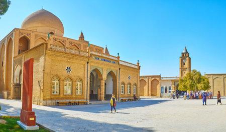ISFAHAN, IRAN - OCTOBER 20,2017: The brick Cathedral of Holy Savior is the main church of medieval monastery in Julfa Armenian neighborhood, on October 20 in Isfahan. Redakční