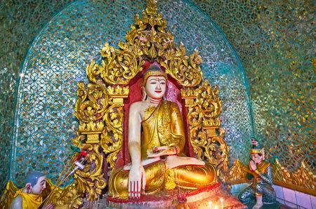 yangon myanmar february 14 2018 the statue of lord buddha