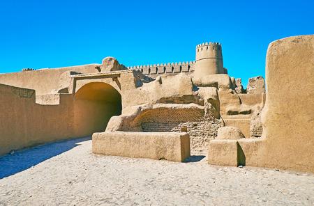 Arg-e Rayen is notable landmark and fine example of adobe deserted citadel, Kerman Province, Iran.