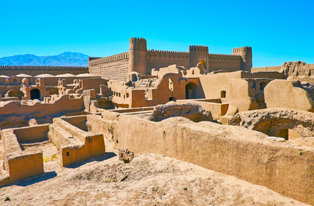 The deserted citadel of Rayen is one of the largest adobe complexes, preserved in Iran.