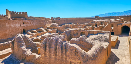The famous ancient adobe fortress of Rayen is the perfect place to enjoy the unique architecture and history of desert lands, Iran.