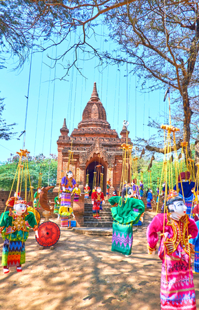 Traditional dolls in colorful dresses are amazing gifts from Myanmar