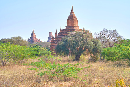 Bagan archaeological site is the must-see place to visit among all tourists in Myanmar Reklamní fotografie