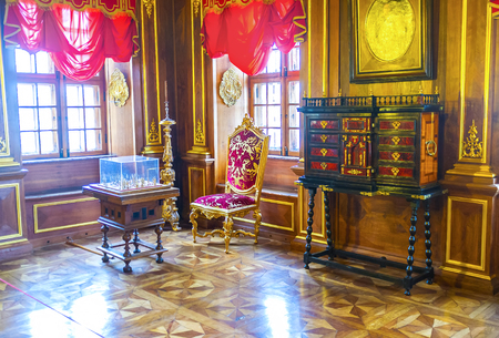 SAINT PETERSBURG, RUSSIA - APRIL 26, 2015: The home of first Grand Governor of the city is the fine example of wealth and luxury of that period, April 26 in S. Petersburg