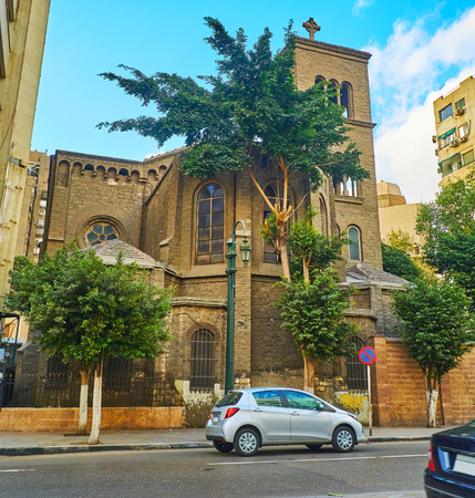 Catholic Church of St Mary of Peace is located in Al Qasr Al Nil street in Downtown district of Cairo, Egypt.