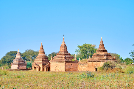 Remains of a disappeared Bagan kingdom are found the second life during the tourist rush in Myanmar
