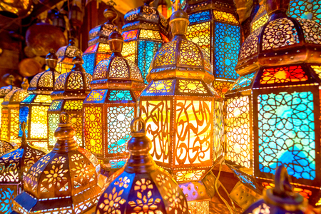 Egypt is the motherland of beautiful Arabian lamps, and artisans have reached unprecedented success in their decoration, Cairo Stock fotó