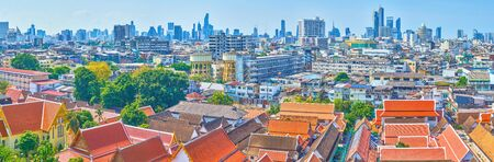 Bangkok is a unique city with hard contrasts between poor residential neighborhoods with shabby houses and posh modern high-rises of new business districts