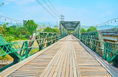 Memorial Bridge (Saphan Prawatsart) is one of the main landmarks of Pai suburb, Thailand