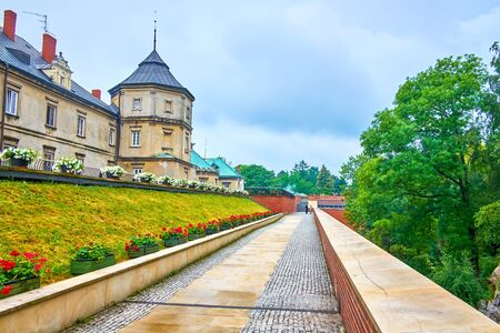 The defensive bastions of Jasna Gora monastery played an important role in historical battles, and nowadays are the fine walking area with adjoining lush park, Czestochowa, Poland