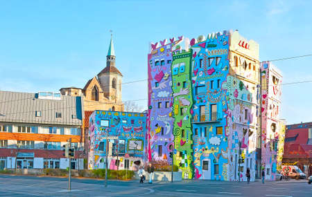 BRAUNSCHWEIG, GERMANY - NOV 22, 2012: The Happy Rizzi House exterior attracts tourists to walk the  Ackerhoff,  on Nov 22, 2012 in Braunschweig Editorial
