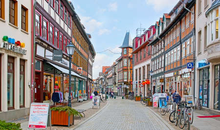 WERNIGERODE, GERMANY - NOVEMBER 23, 2012: The Breite Strasse (street) is lined with traditional half-timbered houses, on November 23 in Wernigerode Editorial
