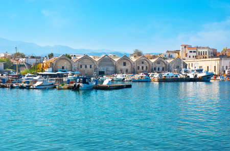 Explore Venetian port of Chania with extant stone shipyards, Crete, Greece