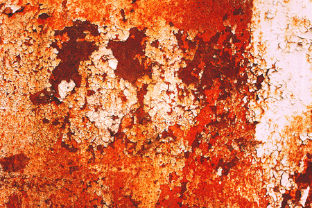 Texture of rusty with drip on steel wall background photo