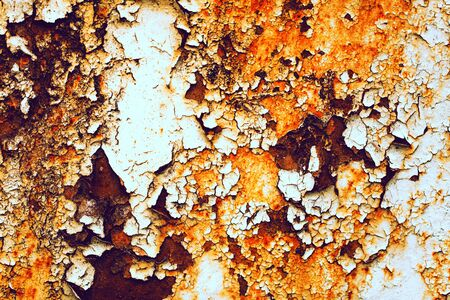 filth: Texture of rusty with drip on steel wall background