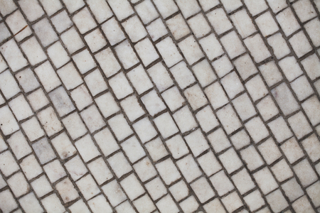 pavement: Abstract geometric background of smooth white mosaic