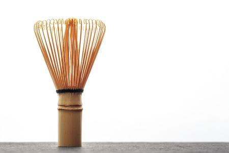 maccha: A chasen - special bamboo matcha tea whisk