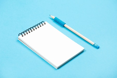note booklet: Spiral notepad with pencil as mockup for design