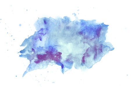 Abstract watercolore blue and violette stain