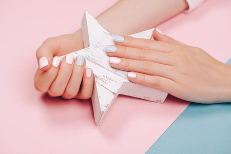 Stylish trendy female manicure