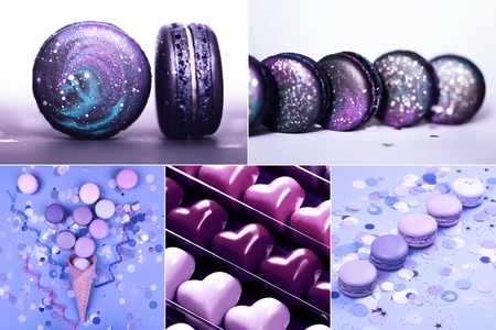 Collage with Ultra Violet sweets