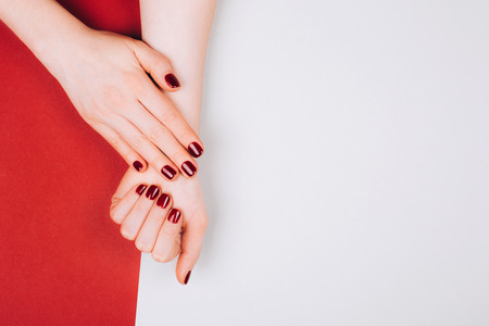 Red beautiful manicure