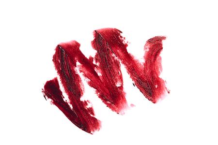 red textured lipstick stroke Stock Photo