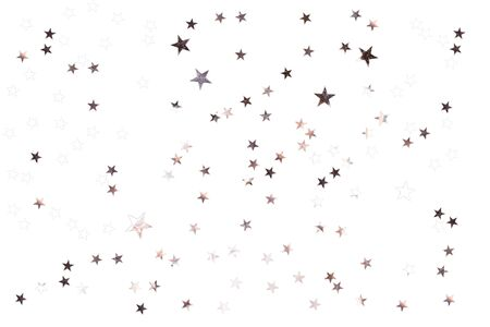 Silver stars on isolated white background. Perfect star overlay. Stock Photo