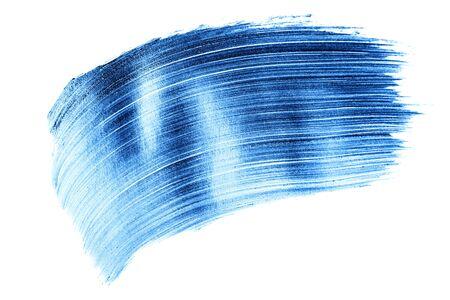 Beautiful textured blue melallic strokes isolated on white background. Фото со стока - 135464698