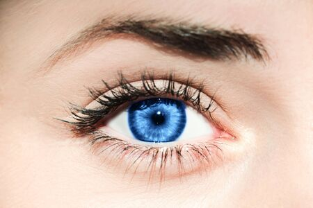 Blue eye. Inspired by color of the year 2020 Stock fotó
