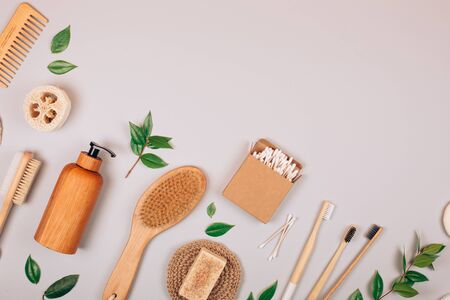 Zero waste self-care products. Flat lay style. Фото со стока - 135364692