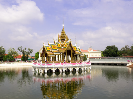 lake dwelling: Ayutthaya Thailand  Oct  23 2014 : Bang PaIn Royal Palace also known as the Summer Palace is a palace complex formerly used by the Thai kings. It lies beside the Chao Phraya River in Bang PaIn district Ayutthaya Province Editorial