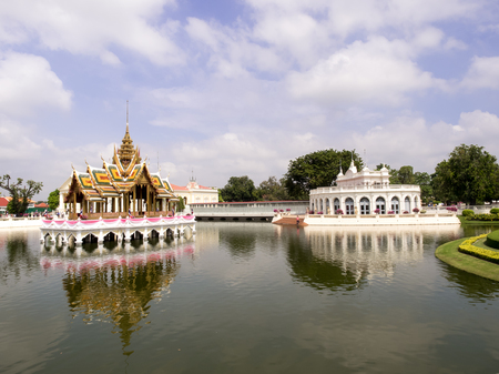 grand pa: Ayutthaya Thailand  Oct  23 2014 : Bang PaIn Royal Palace also known as the Summer Palace is a palace complex formerly used by the Thai kings. It lies beside the Chao Phraya River in Bang PaIn district Ayutthaya Province Editorial