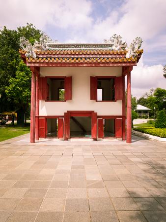 grand pa: Ayutthaya Thailand  Oct  23 2014 : Old chinese house at Bang PaIn Palace