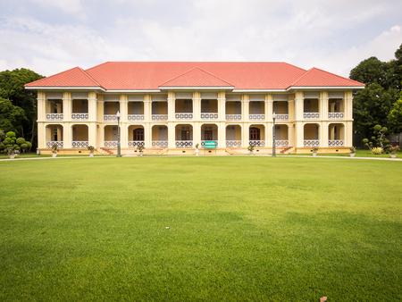 grand pa: Ayutthaya Thailand  Oct  23 2014 : Thai old style building in Bang PaIn Royal Palace