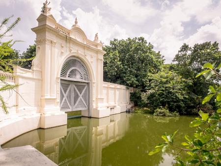 grand pa: Ayutthaya Thailand  Oct  23 2014 : beautiful floodgate at Bang PaIn Palace